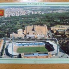 Coleccionismo deportivo: ZARAGOZA VISTA GENERAL LA ROMAREDA. ESCUDO DE ORO Nº330. CAMPO DE FUTBOL REAL ZARAGOZA. Lote 296886993