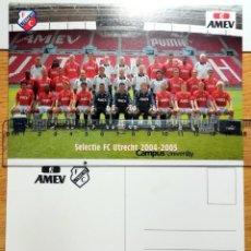 Coleccionismo deportivo: POSTAL FUTBOL POST CARD SELECTIE FC UTRECHT 2004-2005. Lote 297381018