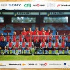 Coleccionismo deportivo: POSTAL FUTBOL POST CARD FOOTBALL A.F.C. AJAX AMSTERDAM MUSAMPA FINIDI VAN GAAL LITMANEN KLUIVERT. Lote 297383093