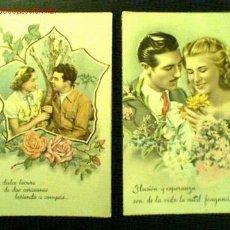 Postales: LOTE 2 TARJETAS ROMÁNTICAS ANTIGUAS. C. Y Z. Nº 547 Y 578. Lote 16394273