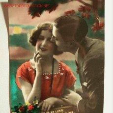Postales: POSTAL ANTIGUA COLOREADA FECHADA MANUSCRITA DETRÁS AÑO 1935. Lote 22469650
