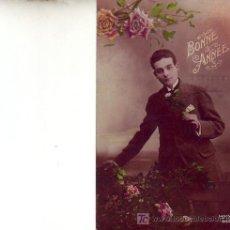 Postales: POSTAL ANTIGUA BONNE ANNÉE - CIRCULADA EN 1922 A PARIS.. Lote 4243338