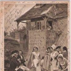 Postales: POSTAL FRANCESA : LA LOUÉE DES SERVANTES * MUY CURIOSA* - 1903. Lote 25757281