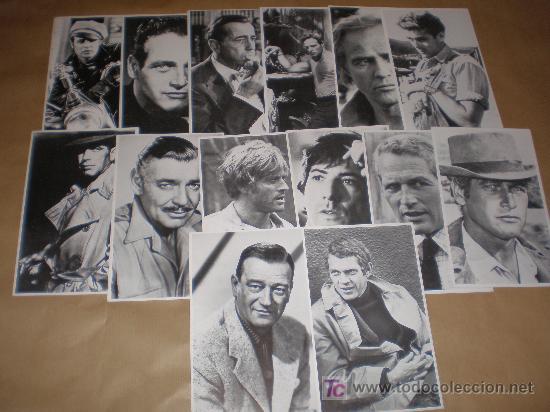 LOTE DE 14 POSTALES SERIE ARTISTAS 1982 (MIDEN 18,50 X 11,50 CTM) (Postales - Postales Temáticas - Galantes y Mujeres)
