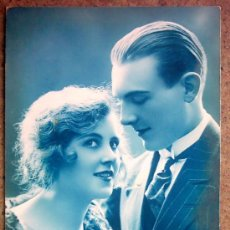 Postales: POSTAL AZULEJADA ROMANTICA, CIRCULADA 15-07-1925. Lote 22951622