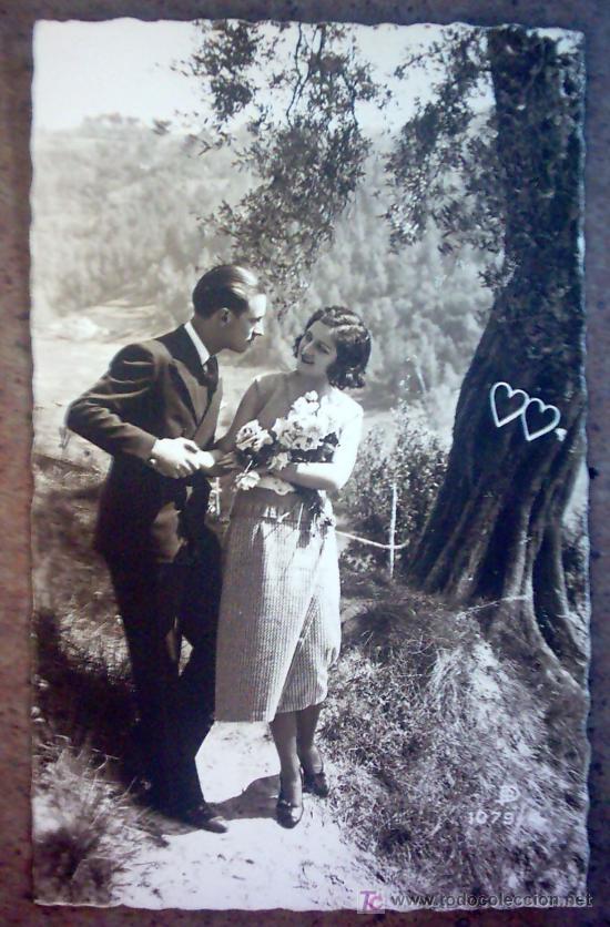 POSTAL PAREJA ROMANTICA,CIRCULADA 14-08-1933 (Postales - Postales Temáticas - Galantes y Mujeres)
