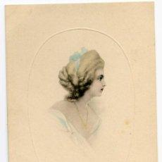 Postales: POSTAL DE ELEGANTE DAMA. ART DE VIENNE Nº 148. ESCRITA PERO SIN CIRCULAR. Lote 26269455
