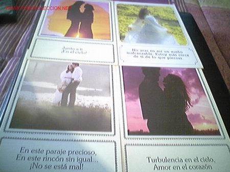 LOTE DE 4 POSTALES CON BELLAS FRASES DE AMOR MAS ARTICULOS EN MI TIENDA VISITALA (Postales - Postales Temáticas - Galantes y Mujeres)