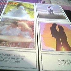 Postales: 4 POSTALES DE AMOR. Lote 26298481