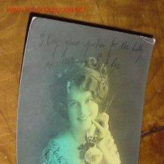 Postales: ANTIGUA POSTAL RETRATO - COLOREADA - AÑO 1913 - BBJ - VERSOS ESCRITOS EN EL REVERSO DE LA POSTAL . Lote 15662838