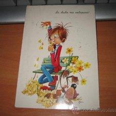 Postales: LA DUDA ME ENLOQUECE. Lote 9986193
