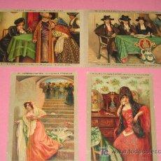 Postales: LOTE DE 4 POSTALES ANTIGUAS. PINTADAS A MANO - AÑOS 20. Lote 40765618