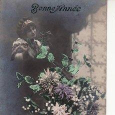Postales: BONNE ANNEE-POSTAL REX 4280.CIRCULADA EN 1912 A PARIS. Lote 12365228