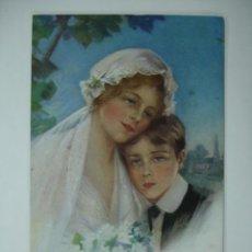 Postales: POSTAL ILUSTRADA. MUJER. PHILIP BOILEAU. SISTER'S FIRST LOVE. . Lote 12478727