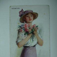 Postales: POSTAL ILUSTRADA. MUJER. C W BARBER. THE MAY GIRL. . Lote 12479192
