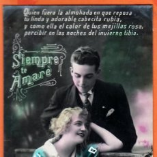 Postales: TARJETA POSTAL - SIEMPRE TE AMARE (1929). Lote 13377311