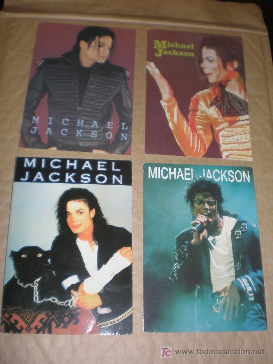 4 POSTALES MICHAEL JACKSON (Postales - Postales Temáticas - Galantes y Mujeres)