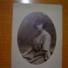 Postales: TARJETA POSTAL MUJER ESTUDIO NIEPCE ESCRITA AÑO 1918. Lote 15156851