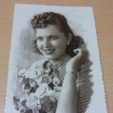 Postales: ANTIGUA POSTAL ROMANTICA. LLANO DEL BEAL. CARTAGENA. MURCIA. 1945. Lote 27410738