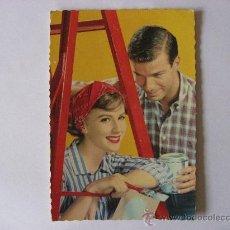 Postales: POSTAL ROMANTICA GALANTE SIN CIRCULAR,PAREJA DE PINTORES.. Lote 19079677