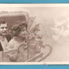 Postales: POSTAL GALANTE ROMÁNTICA ANTIGUA, PAREJA CON DUENDE, VBC 3580. Lote 24983282