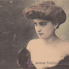 Postales: EVRARD, ACTRIZ DE LA SALA DE TEATRO VARIETES DE PARIS, CIRCULADA EN 1904 (VER DORSO). Lote 19597818