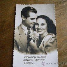 Postales: PRECIOSA POSTAL ROMANTICA - FECHADA AÑO 1952 EN ZAMORA POR AVELINA DIAZ. Lote 19644117