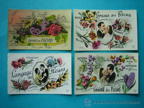 El Lenguaje De Las Flores Lote De 14 Postales A Comprar Postales