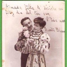 Postales: POSTAL DE 1906 ESCRITA EN CATALÁN CON BRILLANTINA. ETOILE PARIS V B C SÉRIE Nº 3068 CON POEMA.. Lote 24214598
