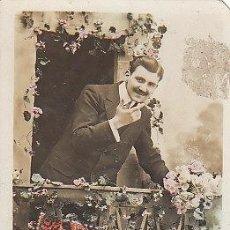 Postales: FELIZ AÑO NUEVO, CIRCULADA EN 1911. Lote 20705856