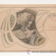 Postales: POSTAL MODERNISTA. MUJER. (M. M. VIENNE). REVERSO SIN DIVIDIR. . Lote 22399453