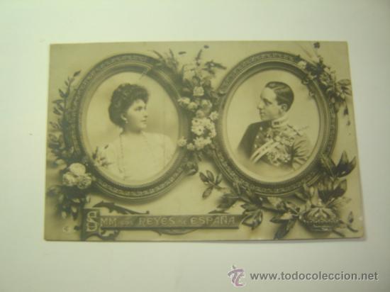 MONARQUIA ESPAÑOLA.SSMM LOS REYES ALFONSO XIII Y VICTORIA EUGENIA.CIRCULADA 1906.CIUDADELA MENORCA (Postales - Postales Temáticas - Galantes y Mujeres)