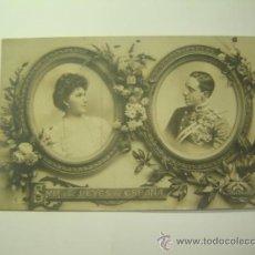 Postales: MONARQUIA ESPAÑOLA.SSMM LOS REYES ALFONSO XIII Y VICTORIA EUGENIA.CIRCULADA 1906.CIUDADELA MENORCA. Lote 23931949