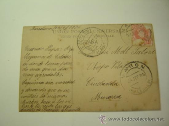 Postales: MONARQUIA ESPAÑOLA.SSMM LOS REYES ALFONSO XIII Y VICTORIA EUGENIA.CIRCULADA 1906.CIUDADELA MENORCA - Foto 2 - 23931949