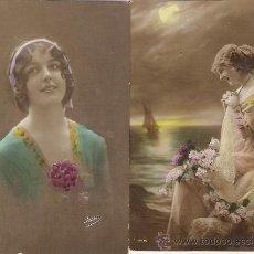 Postales: COLECCION IRISA - DOS POSTALES ANTIGUAS COLOREADAS -1919 Y 1927. Lote 22928624