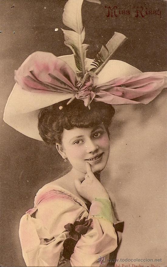 ANTIGUA POSTAL - MISS RISSY (Postales - Postales Temáticas - Galantes y Mujeres)