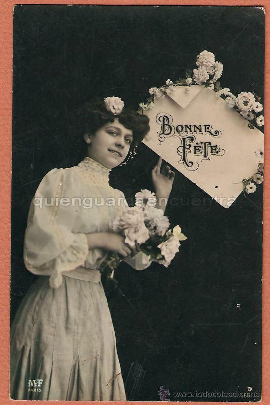 POSTAL GALANTE MF PARÍS 958 SIN CIRCULAR BONNE FETTE COLOREADA (Postales - Postales Temáticas - Galantes y Mujeres)