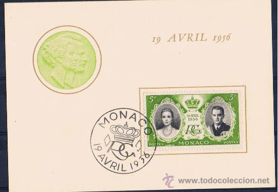PRIMER DIA I PRIMERA NOCHE 1956 GRACE KELLY I RANIERI DE MONACO (Postales - Postales Temáticas - Galantes y Mujeres)