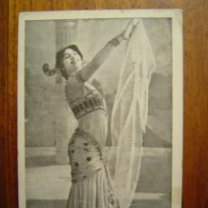 Postales: POSTAL DE MATA-HARI - ORIGINAL - B/N - SERIE BELLY DANCE - WALERY ( PARIS ). Lote 27461521