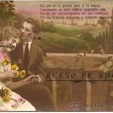Postales: POSTAL GALANTE COLOREADA MANUSCRITA PRINCIPIOS S. XX - ASTURIAS 7085. Lote 24760186
