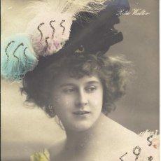 Postales: PS3258 POSTAL FOTOGRÁFICA COLOREADA Y DECORADA DE RITA WALTER. FECHADA EN 1906. Lote 24890606
