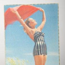 Postales: POSTAL MUJER EN LA PLAYA, E.G.S.A. BARCELONA, Nº 7. Lote 26364066