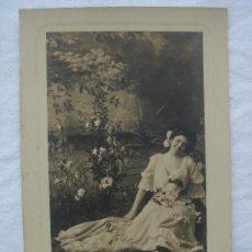 Postales: POSTAL ANTIGUA CON BONITO MOTIVO. ESCRITA AL DORSO Y FECHADA EL 29-AGOSTO-1910. Lote 26492684