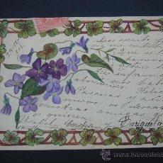Postales: ANTIGÜA POSTAL CON BONITO MOTIVO. CIRCULADA, ESCRITA Y CON SELLO 10 CTS ALFONSO XIII (28-XII-1904). Lote 28200660