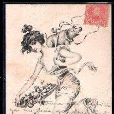 Postales: TARJETA POSTAL DE MUJERES. P.F, B. SERIE 1940. Lote 28517017