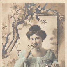 Postales: CHICA EN UNA VENTANA, CIRCULADA EN 1905 (VER DORSO). Lote 28699919