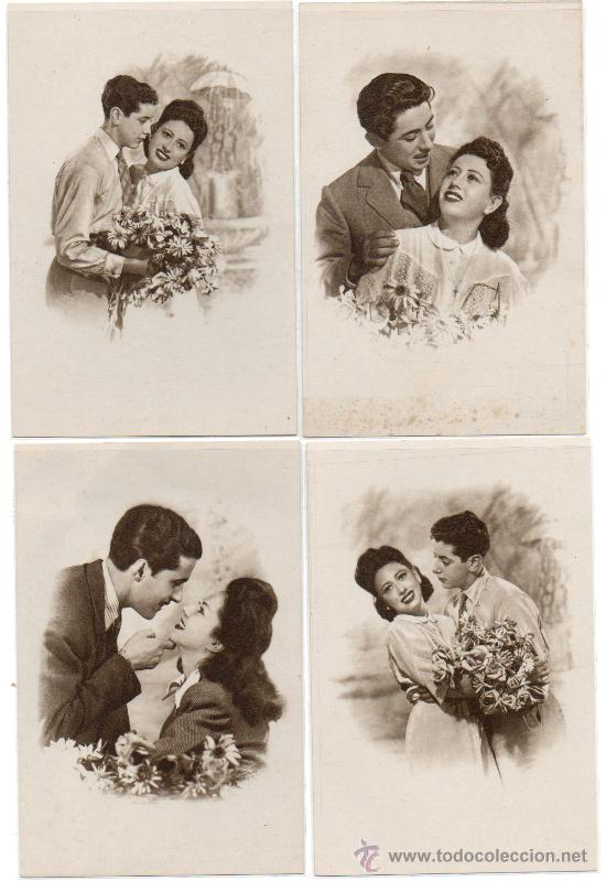 SERIE DE 4 POSTALES NUEVAS, HEROTISMO DE TIEMPO ATRÁS, (Postales - Postales Temáticas - Galantes y Mujeres)