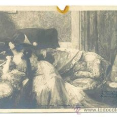 Postales: POSTAL ROMÁNTICA FRANCESA .. CIRCULADA 1903. Lote 29024002