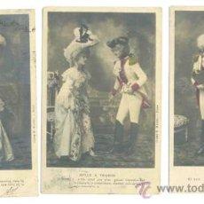 Postales: 3 POSTALES SEMI COLOREADAS FRANCESAS .. CIRCULADAS 1903. Lote 29024123