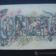 Postales: POSTAL ANTIGUA CON BONITO MOTIVO. BORDADA AL HILO DE ORO. FECHADA EL 5-II-05. Lote 29067591